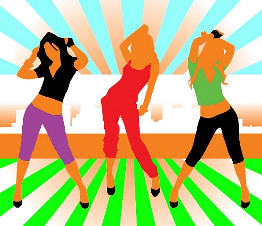 איור של 3 בנות רוקדות